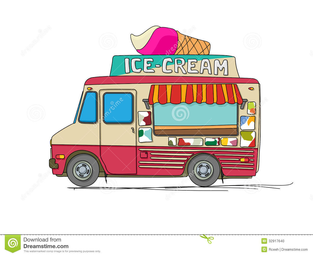 Ice Cream Truck Stock Photo - Image: 32917640