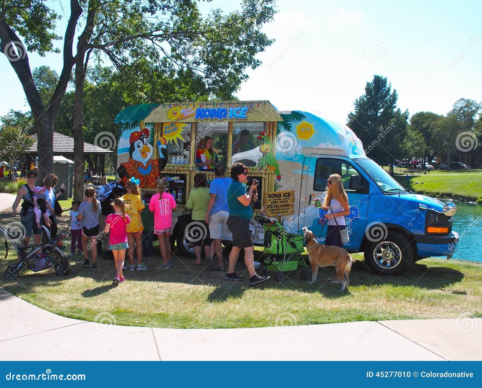 ice cream truck editorial image image 45277010