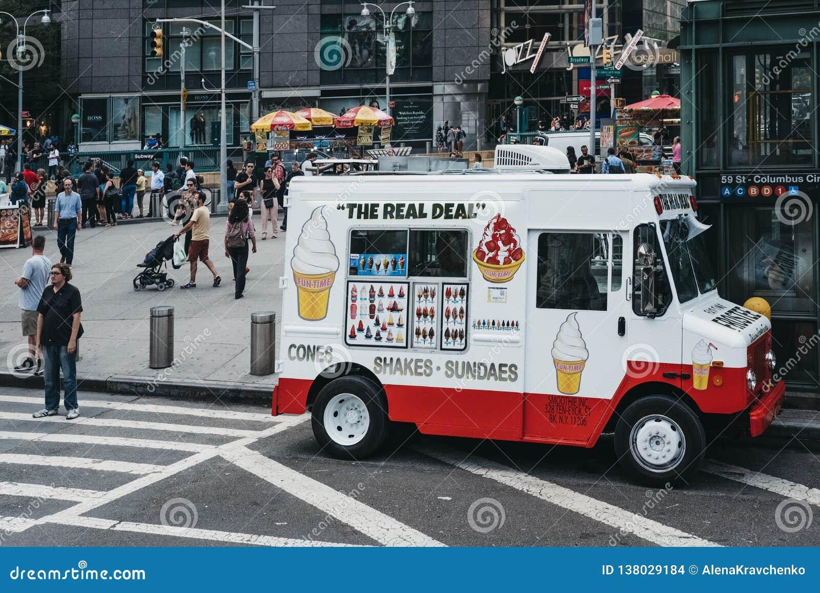 627b7e106a Ice Cream Van On A Street In New York