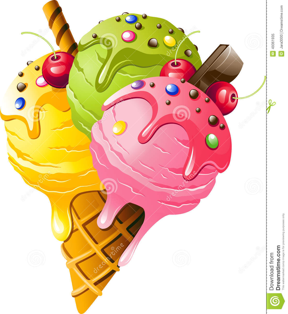 Ice cream stock vector image 49361935 for Immagini da stampare di miraculous