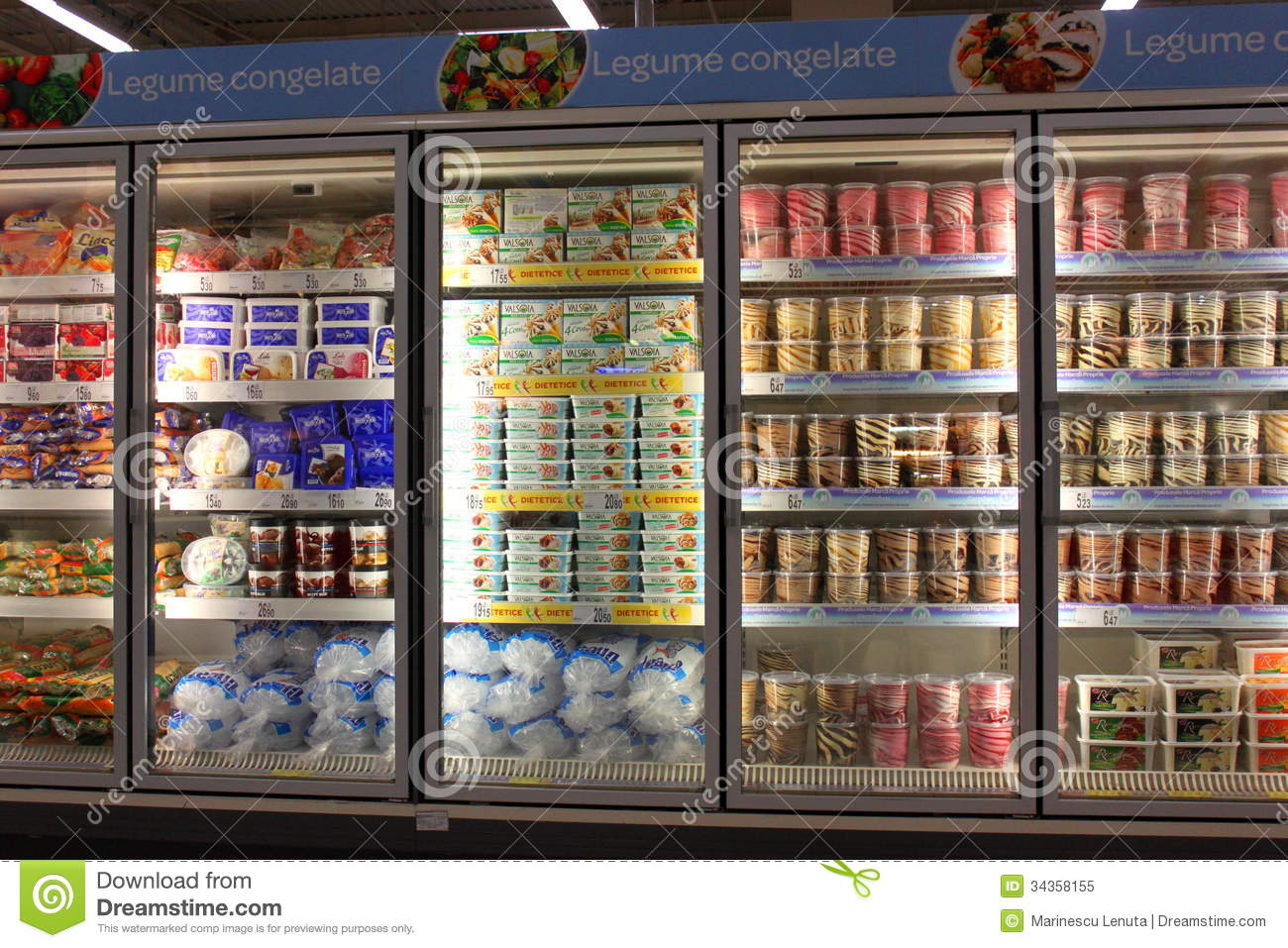 Ice Creams In Grocery Store Editorial Image Image 34358155