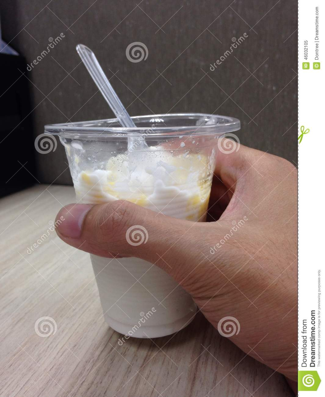 Ice creem coconut milk in hand stock photo image 46032105 for Making sorbet by hand