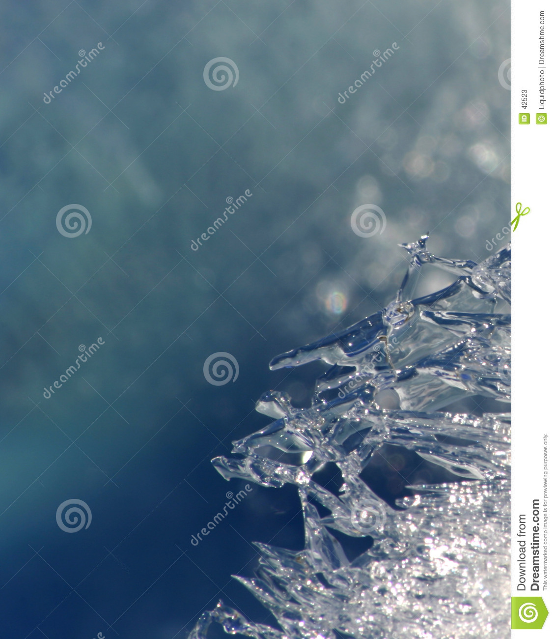 Ice Crystal Background Texture