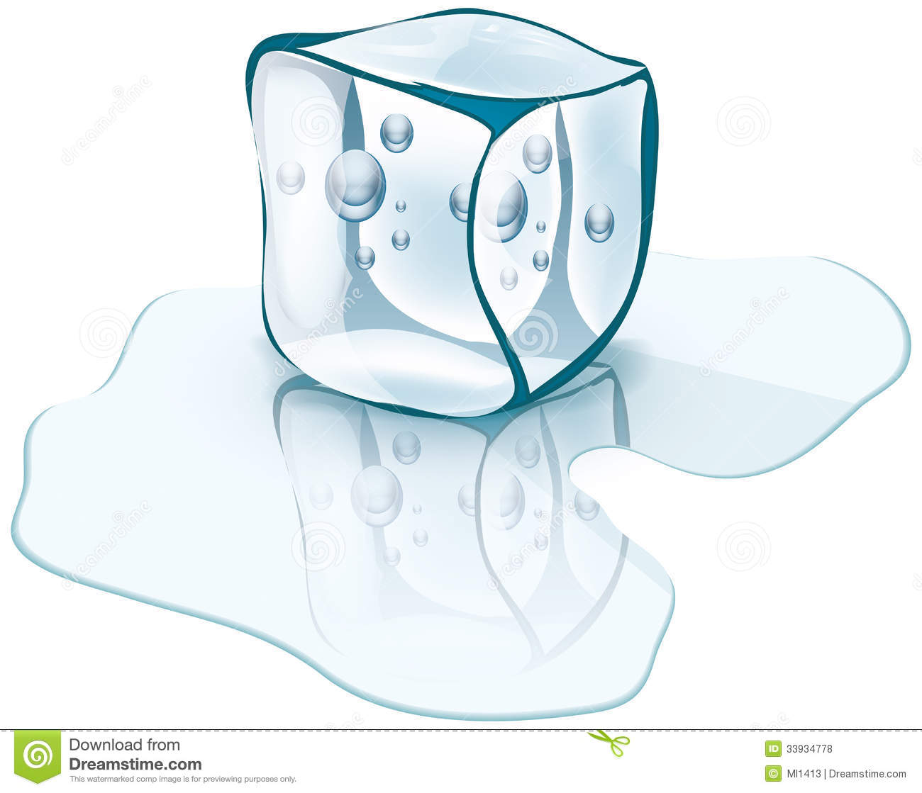 Ice Cube Royalty Free Stock Photos - Image: 33934778