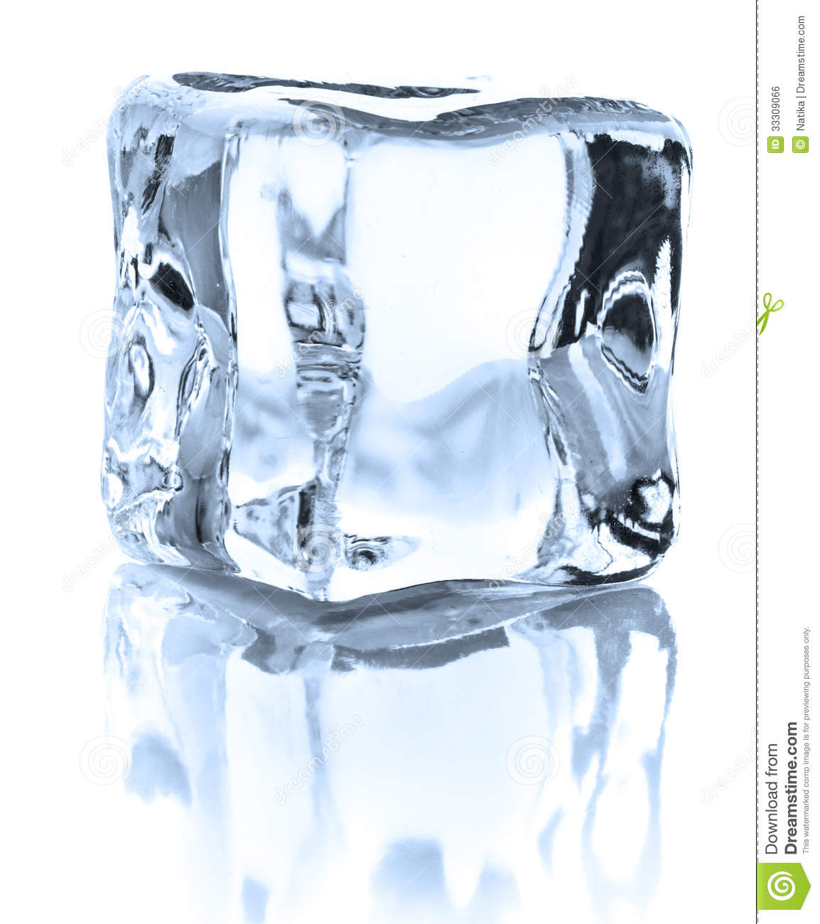 Ice Cube Isolated On White Background Cutout Royalty Free Stock Image ...