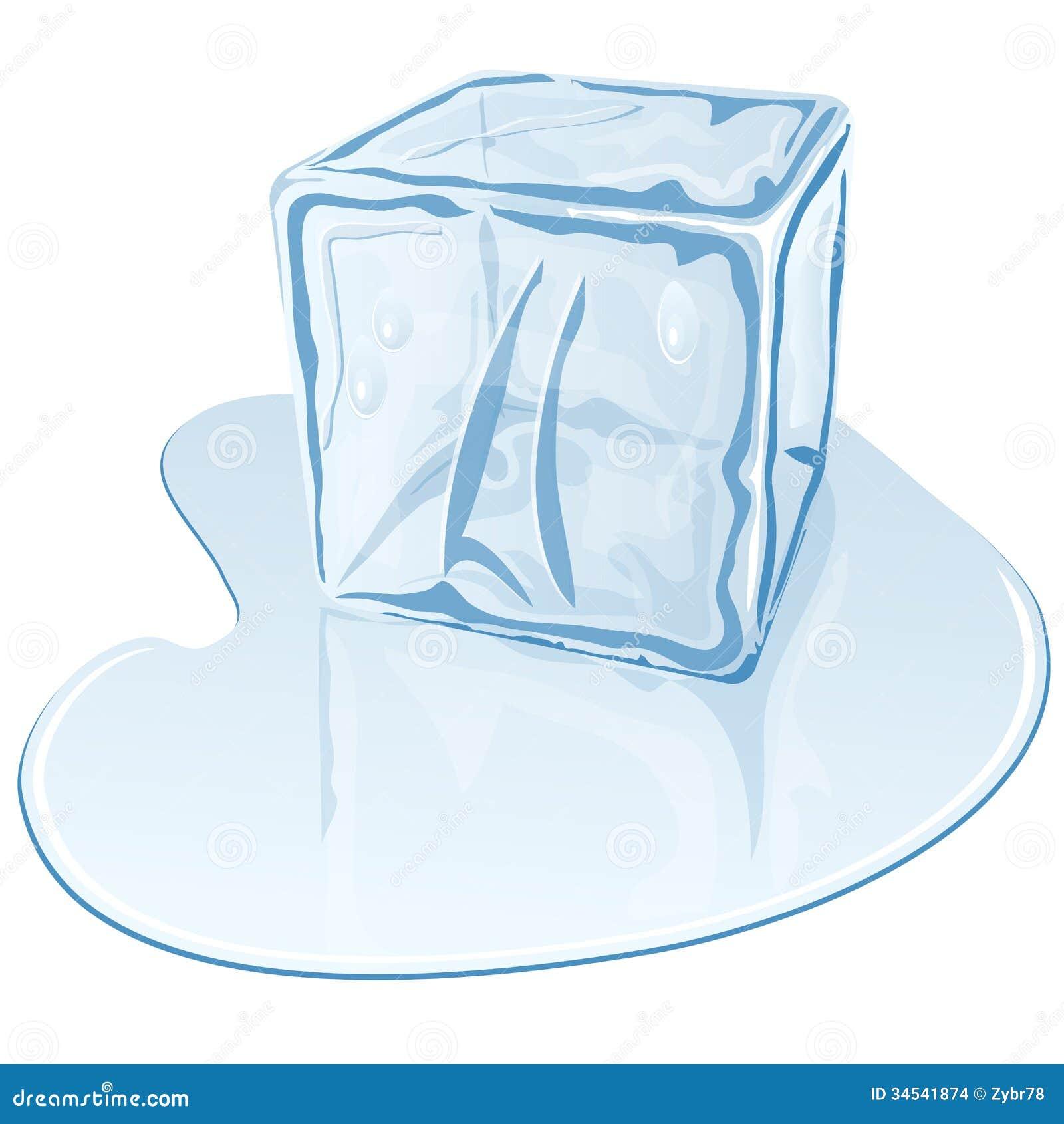 Ice melting clipart single melting ice cube stock illustrations