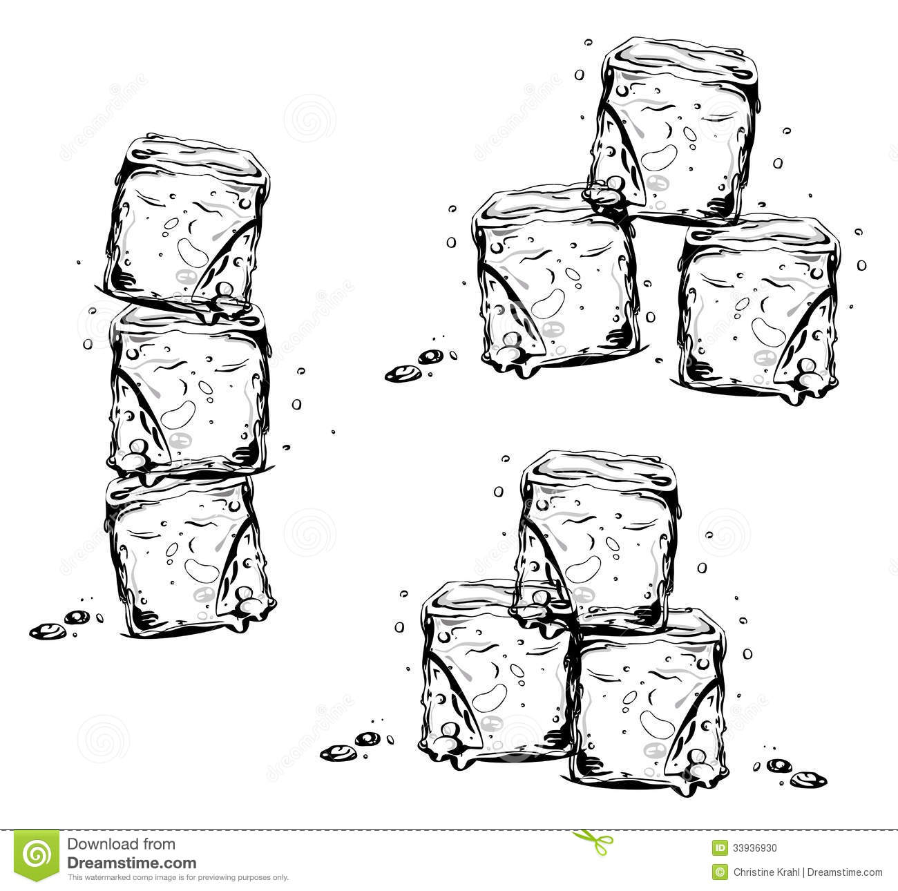 Melting Ice Cube Clipart