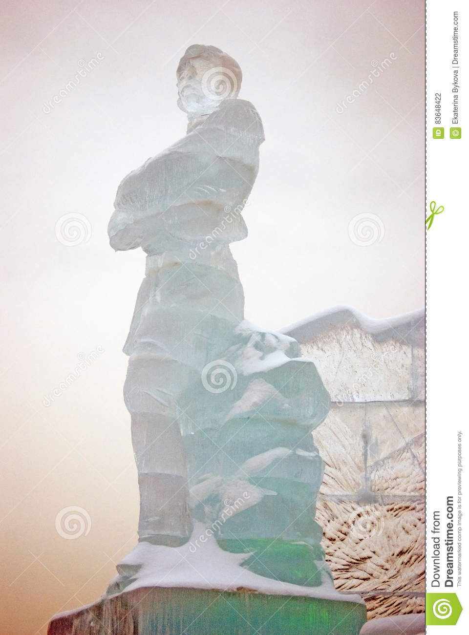 Ice figures in Moscow. editorial photography. Image of scupltures ...