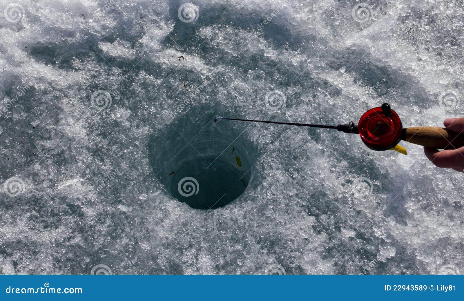 Ice fishing royalty free stock images image 22943589 for Ice fishing hole