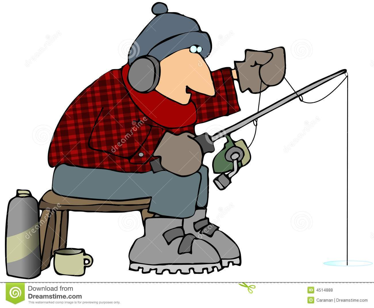 Ice fishing royalty free stock photos image 4514888 for Fishing times free