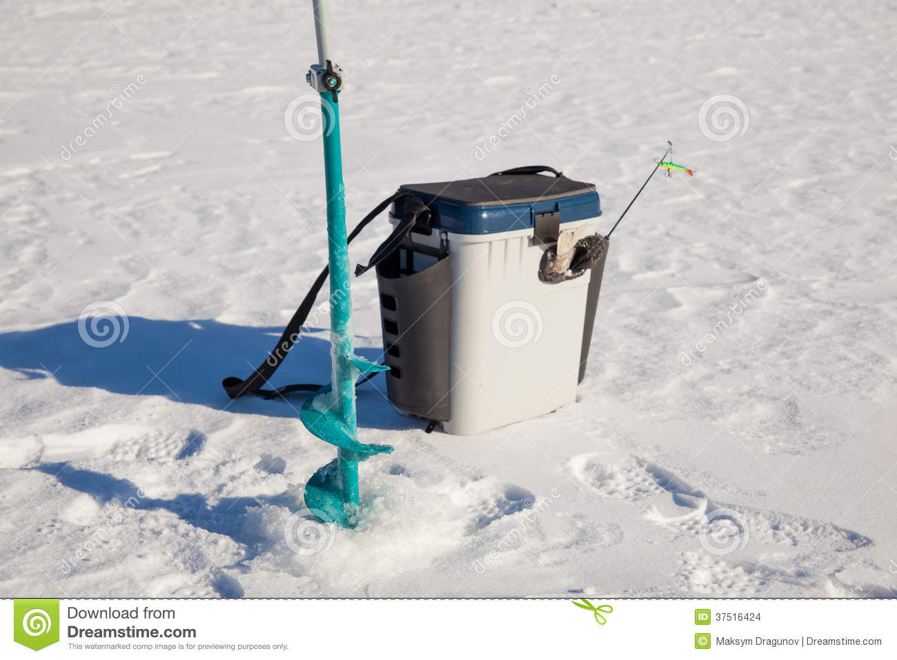 ice fishing accessories stock images - image: 37516424, Reel Combo