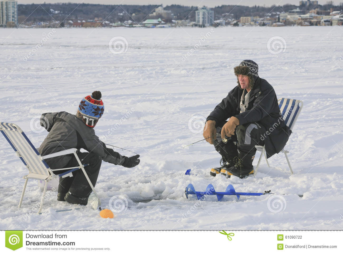 Ice fishing barrie ontario canada editorial photography for Fishing in ontario canada