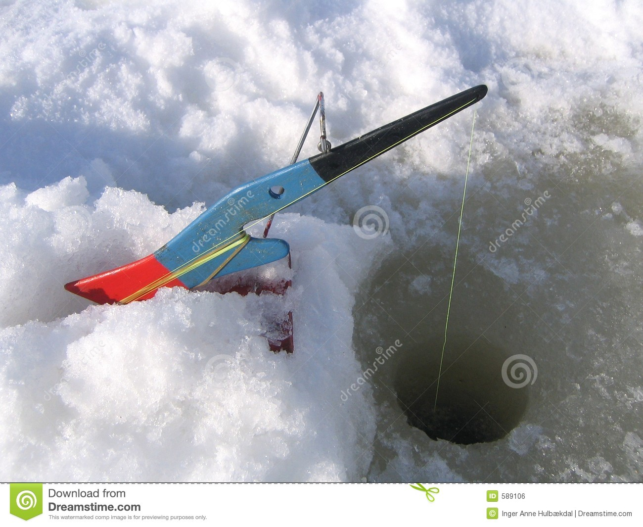 Ice fishing equipment royalty free stock image image 589106 for Fishing times free
