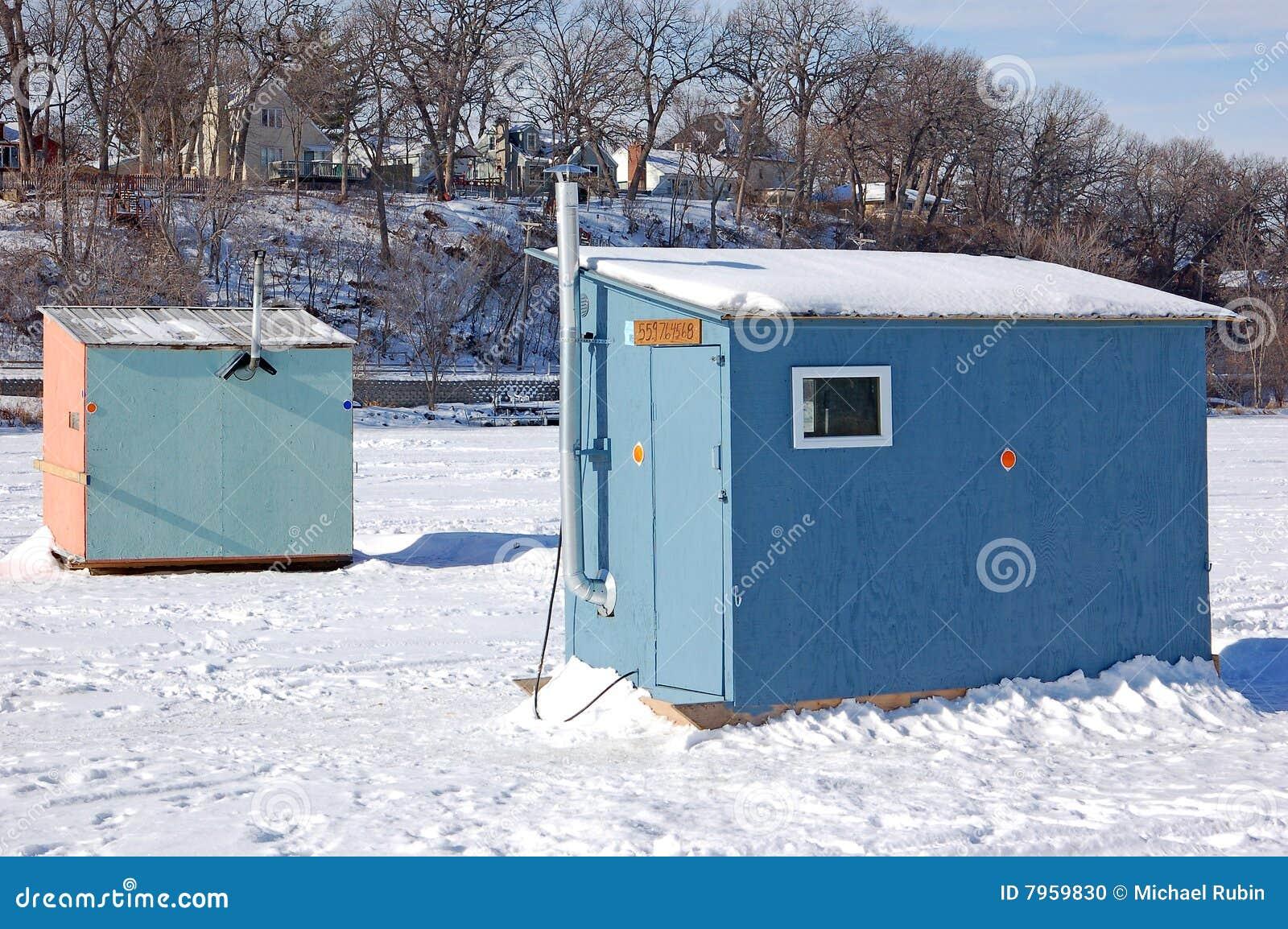Ice fishing houses - photo#25