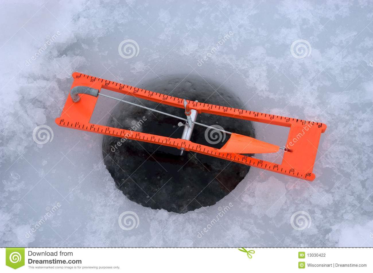 ice fishing tip up detail closeup stock photo image On ice fishing tip up line