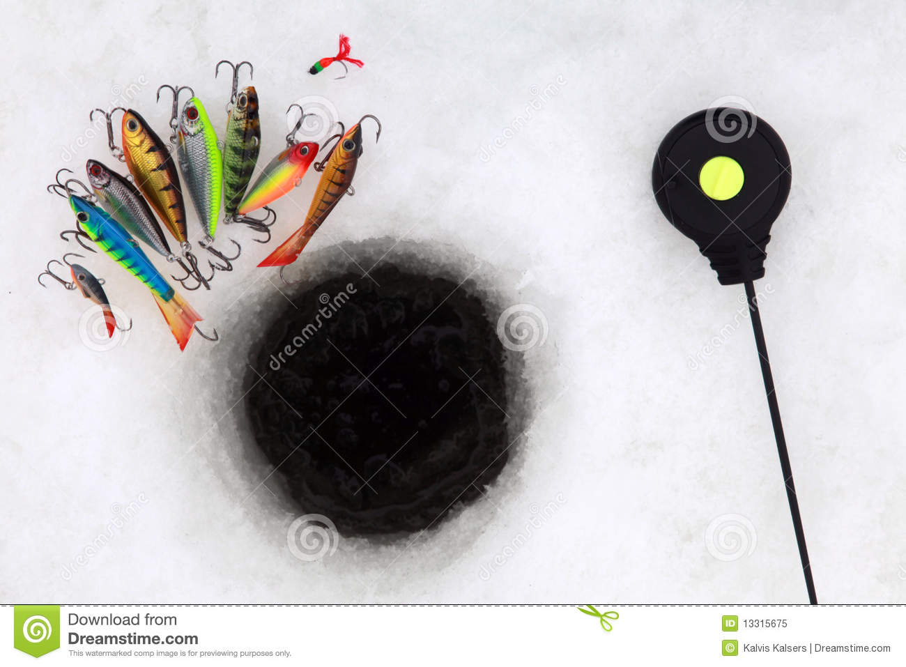 Ice fishing tools royalty free stock photo image 13315675 for Ice fishing tools