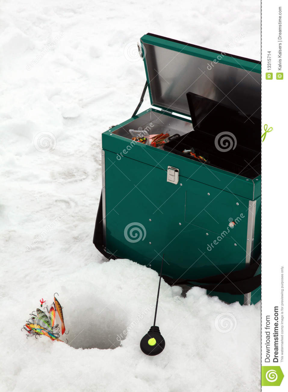 Ice fishing tools stock images image 13315714 for Ice fishing tools