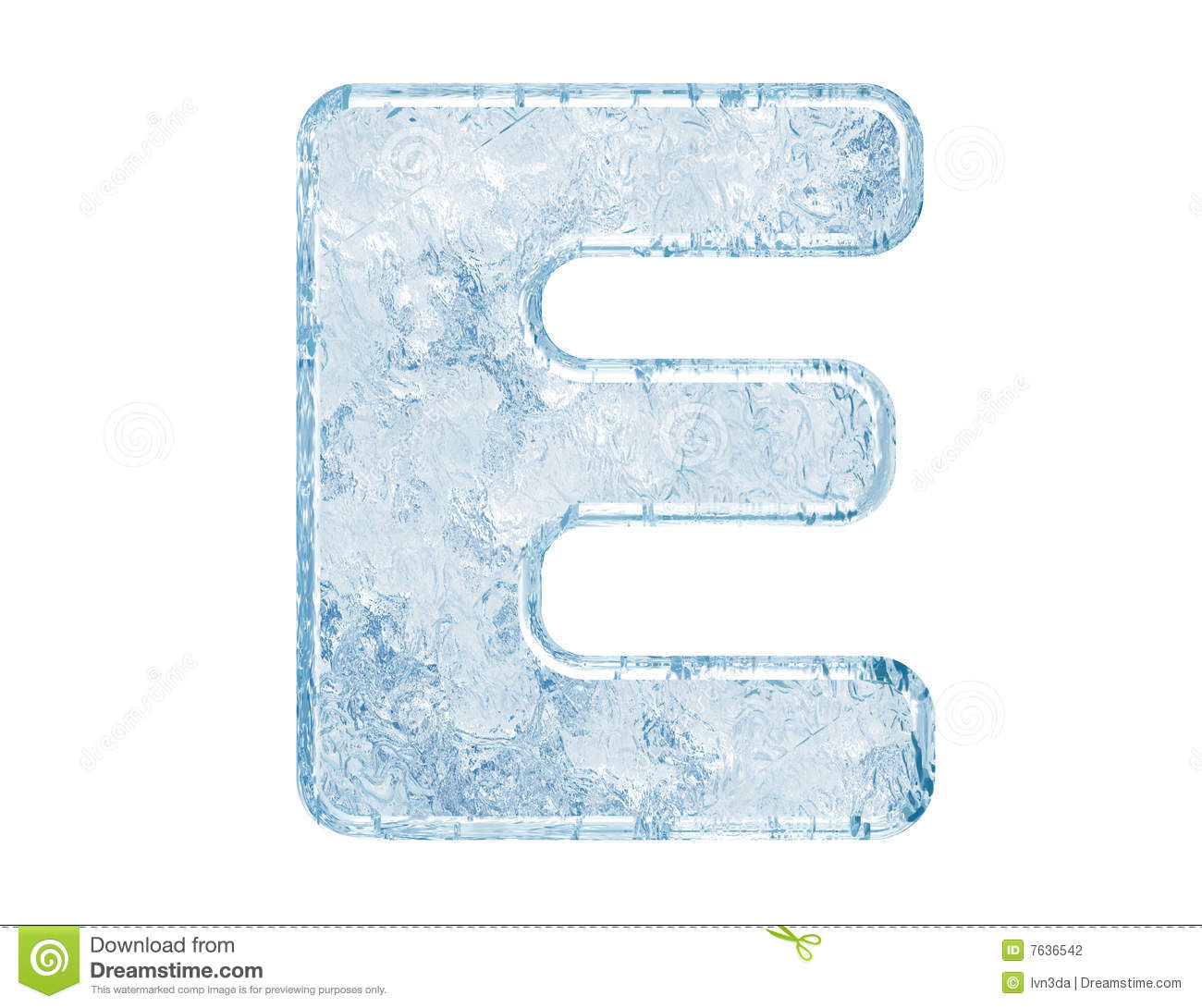 Ice Font Stock Illustration Illustration Of Macro Message