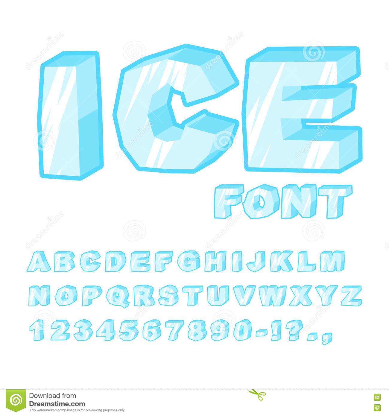 Frosty winter font download.