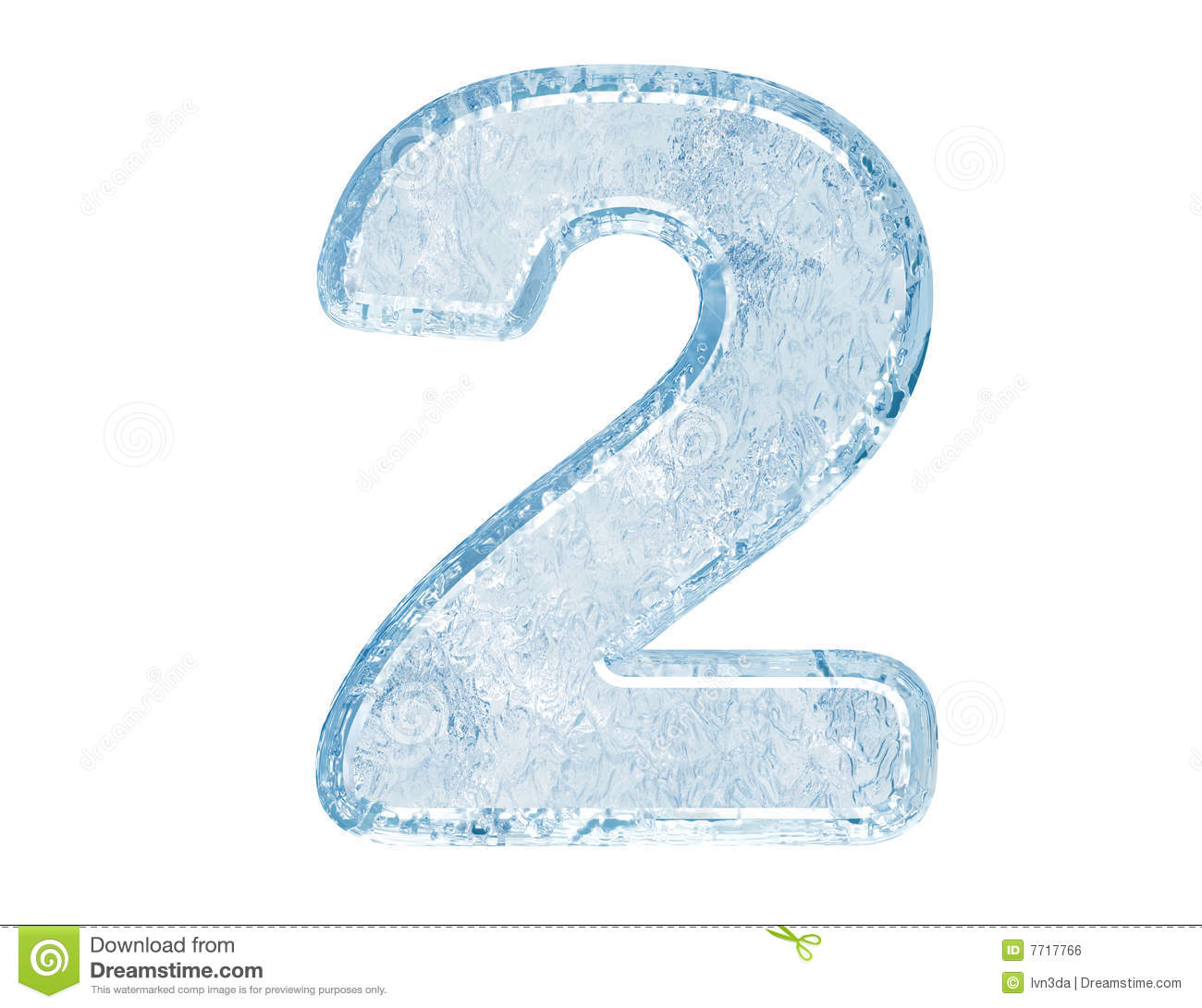 Royalty Free Stock Image Ice Font Number Two Image7717766 on Reading And Writing Numbers