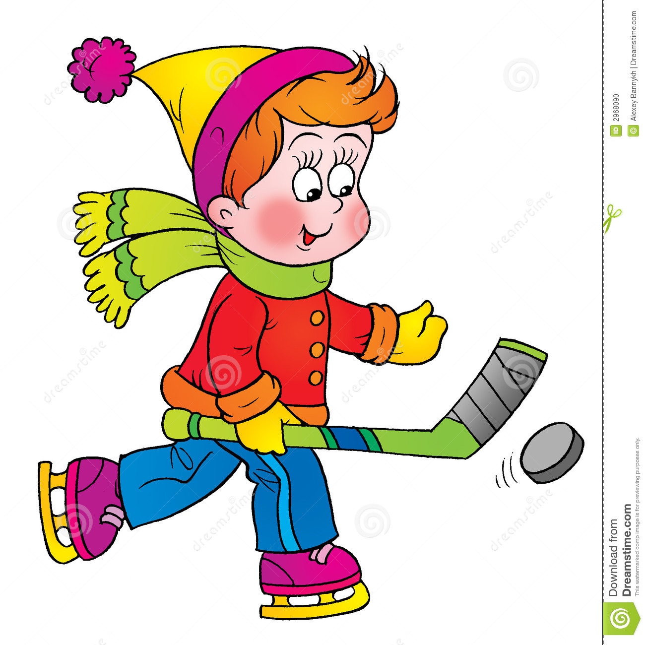 Kids hockey clipart