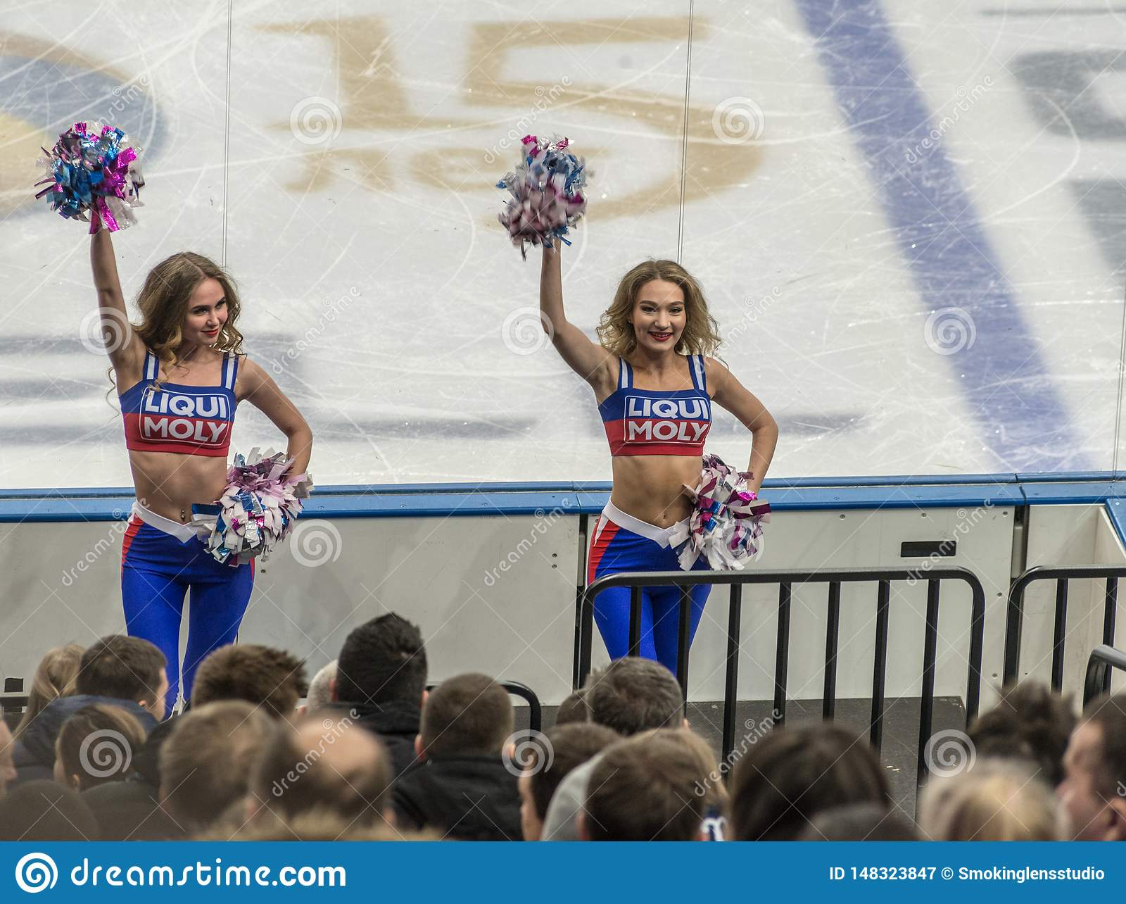 Ice hockey cheerleaders