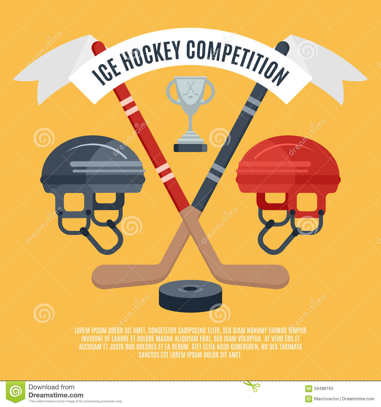 ice hockey competition flat poster stock vector image hockey stick vector free download ccm vector hockey stick