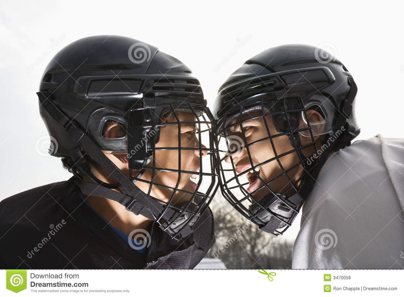 Ice Hockey Face Off. Stock Photo. Image Of Colour