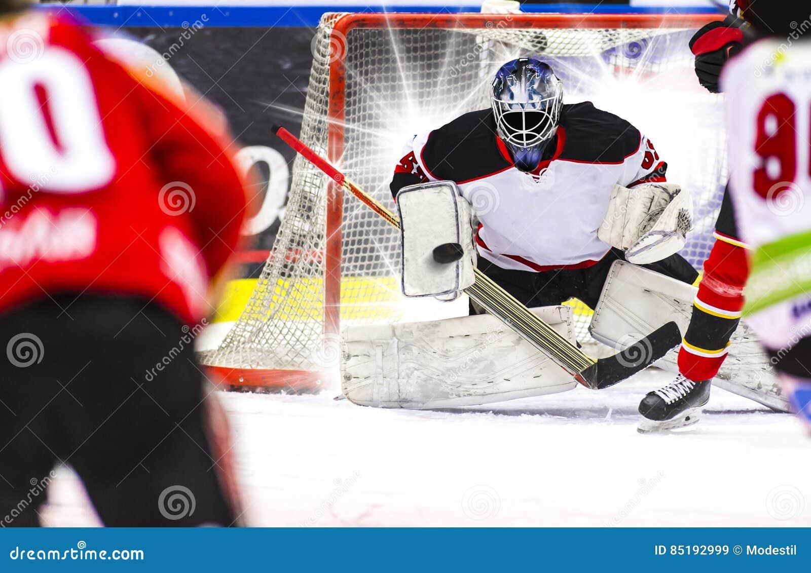 Ice Hockey Goalie Stock Image Image Of Athlete Hockey 85192999