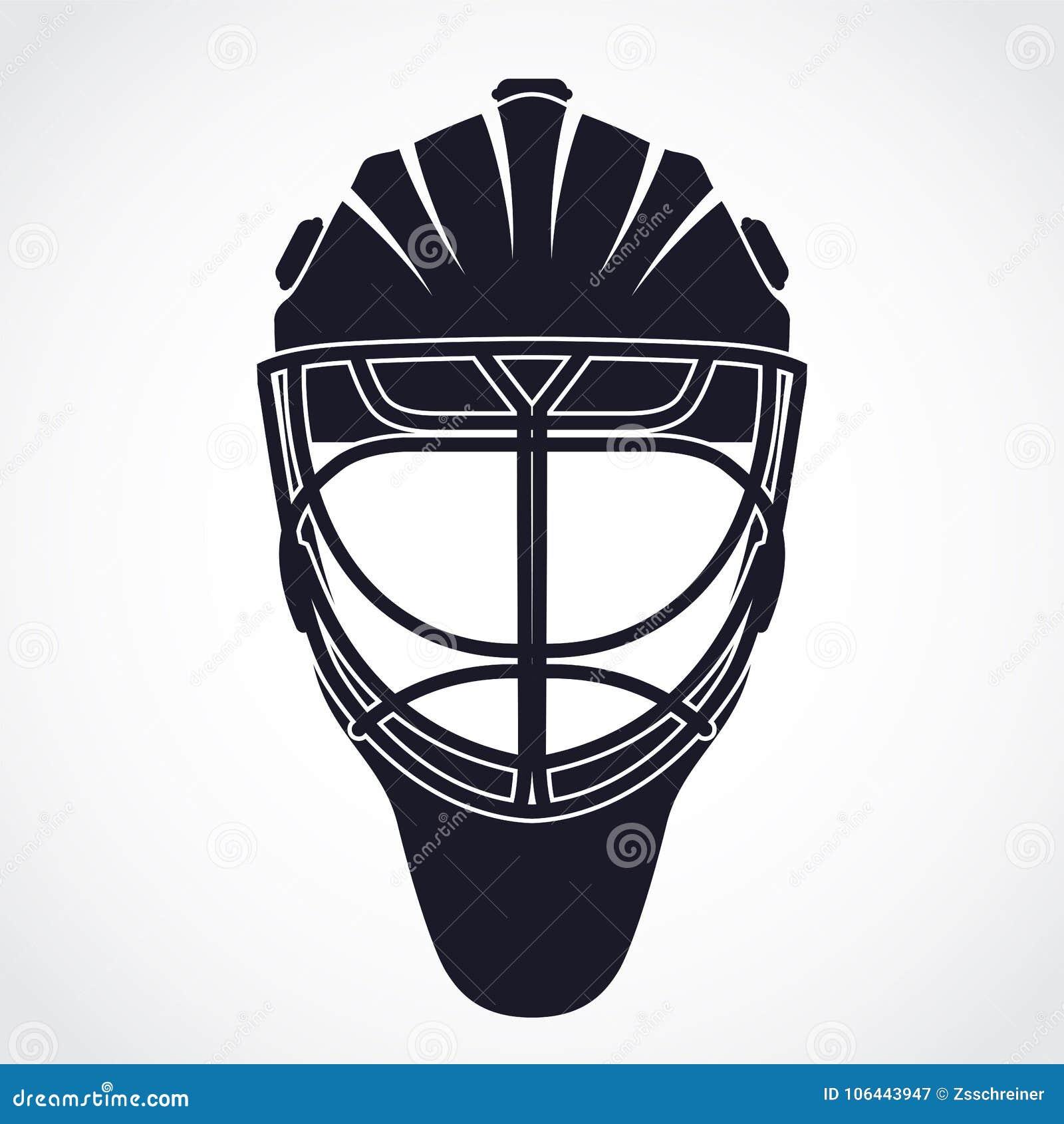 Ice Hockey Goalkeeper Helmet Mask Symbol Stock Illustration