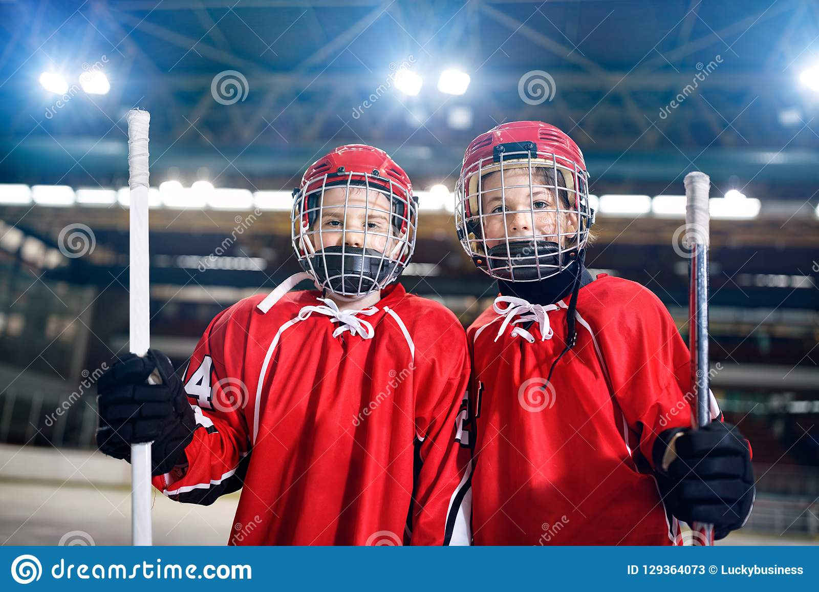 Ice Hockey - portrait boys players