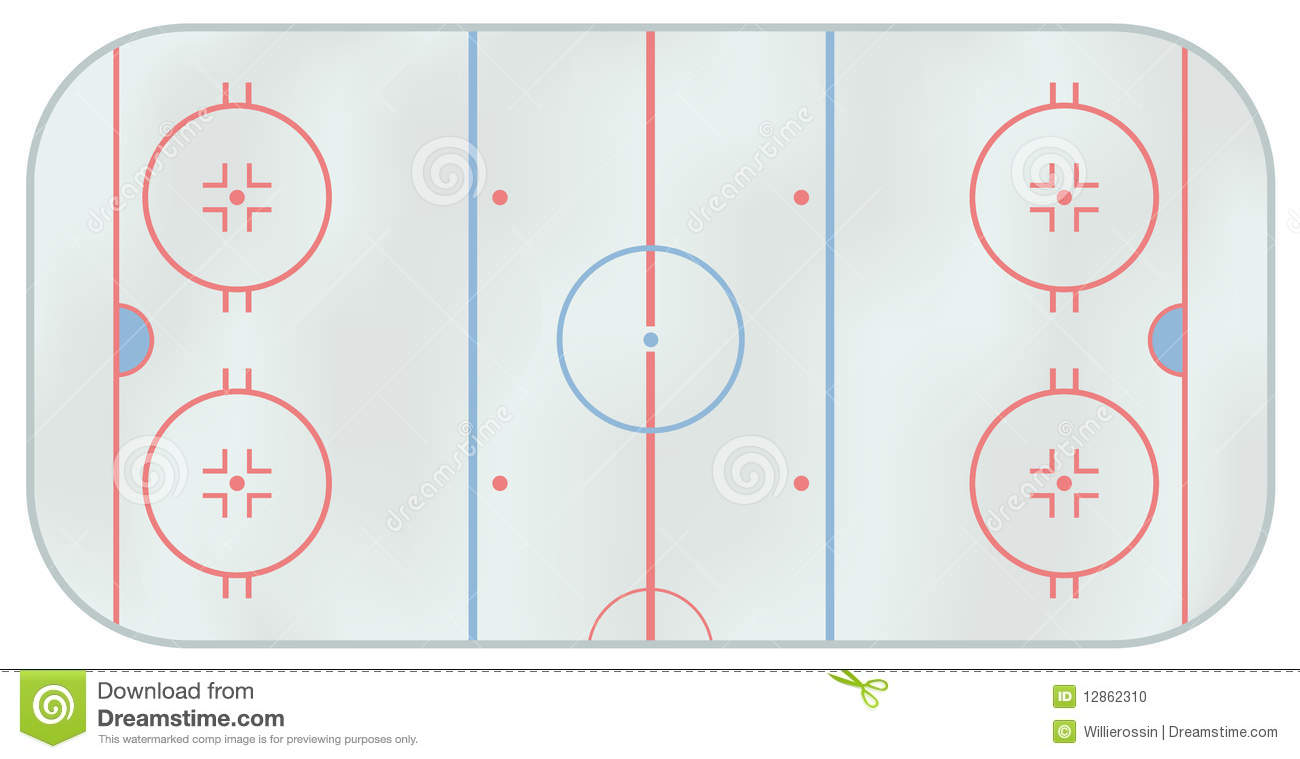 ice hockey rink stock vector  image of illustration  frozen