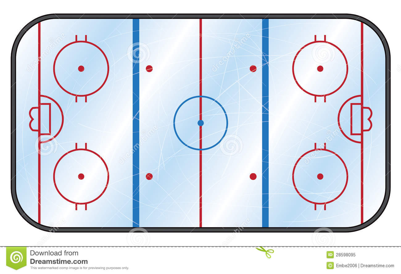 Ice Hockey Rink Royalty Free Stock Photo - Image: 28598095