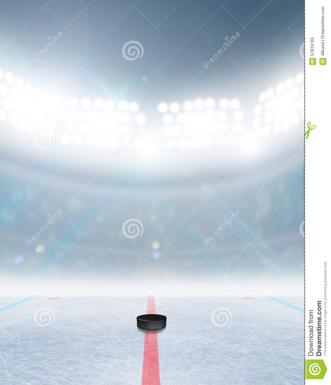 ice hockey ground with all lines on white backgrou cartoon vector