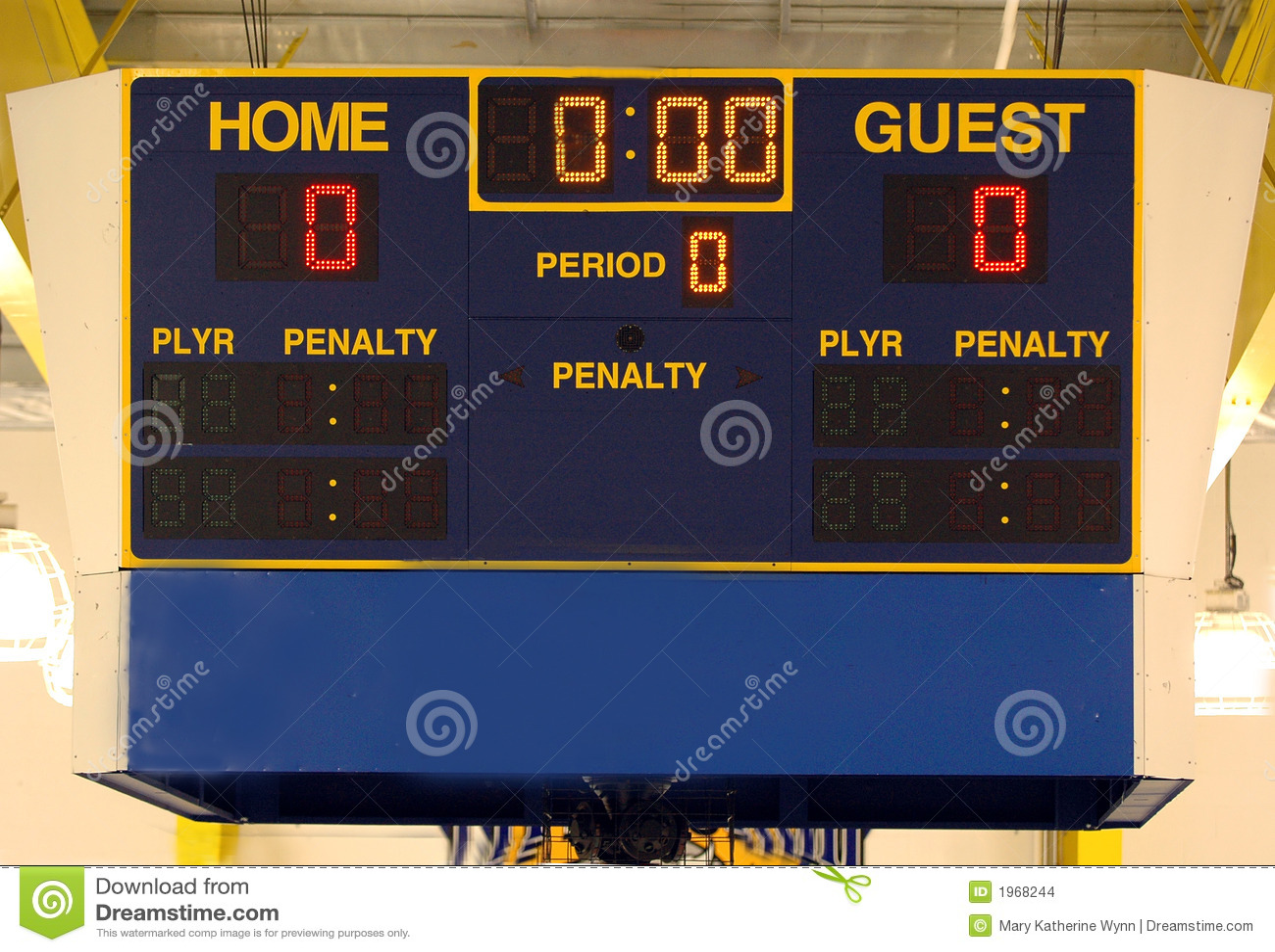 Ice Hockey Scoreboard Stock Photo Image Of Rink