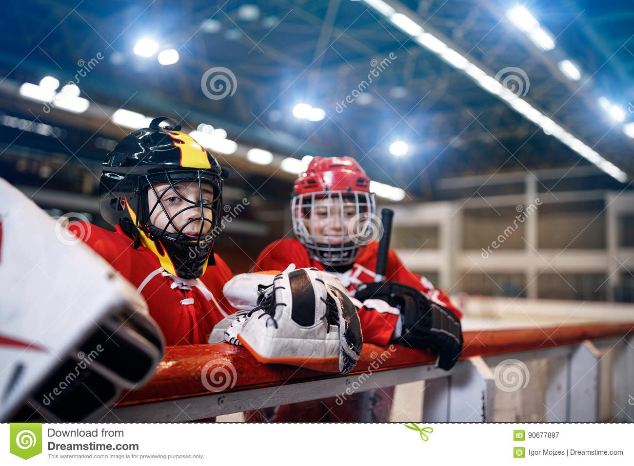 Ice hockey youth boys