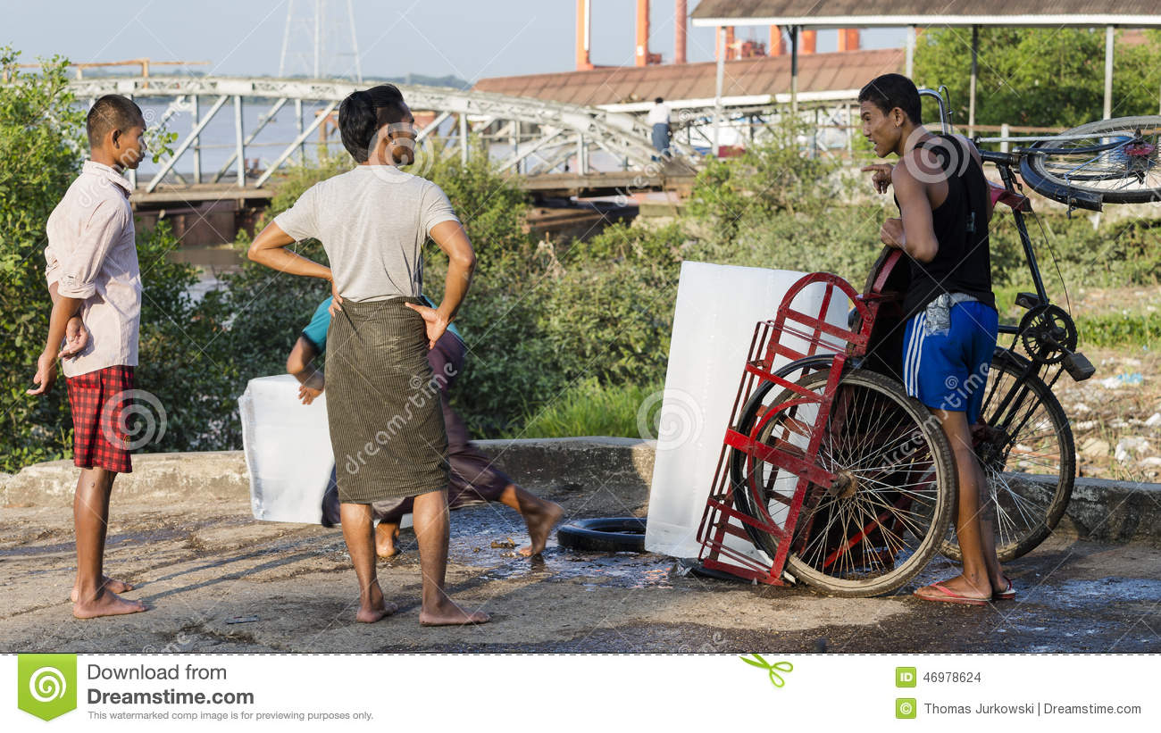 Ice loading editorial stock image  Image of myanmar