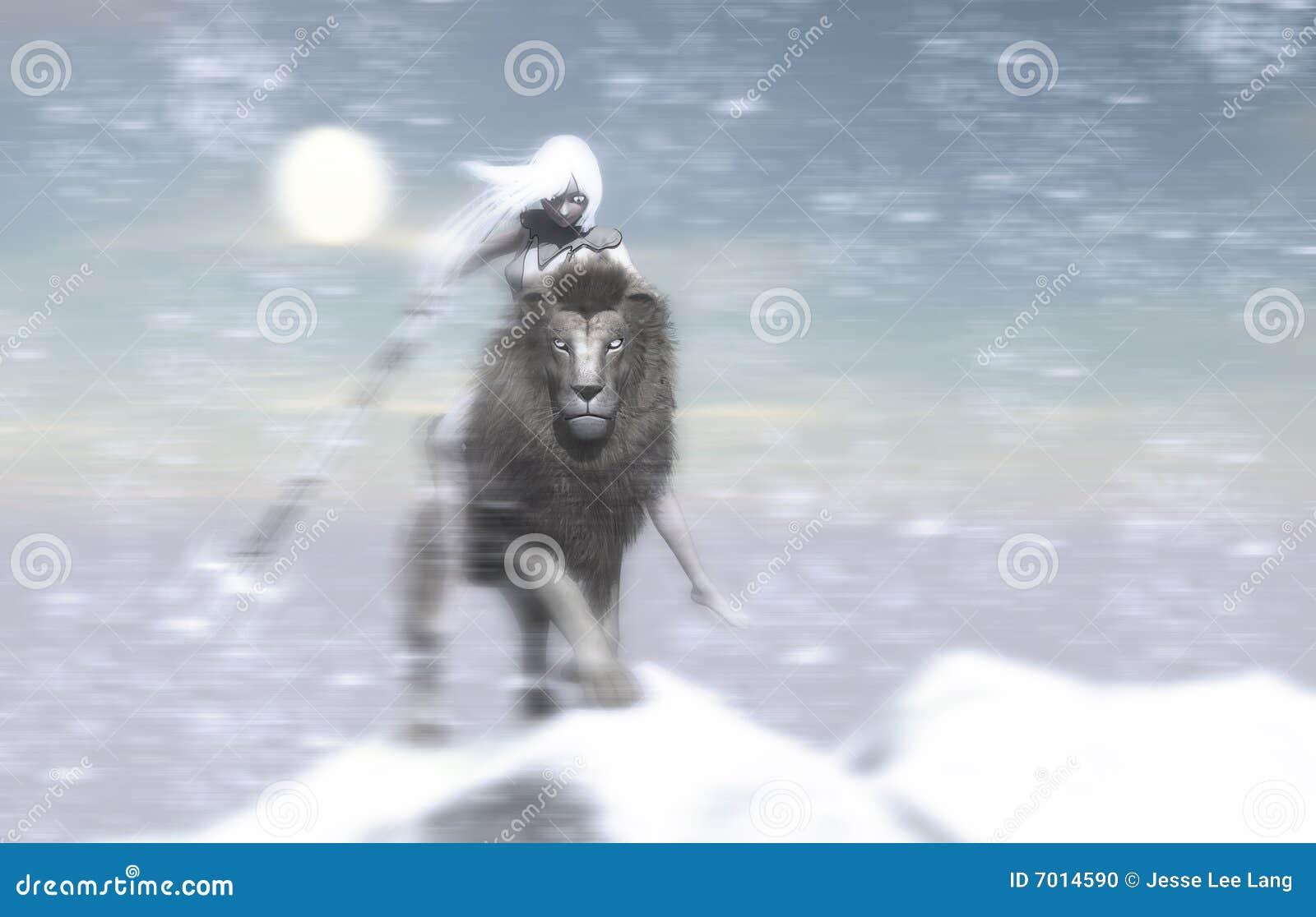 Ice Mage Stock Illustration Illustration Of Snow Lion 7014590