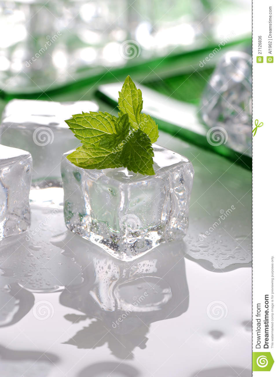 Ice And Mint Royalty Free Stock Image - Image: 27126836