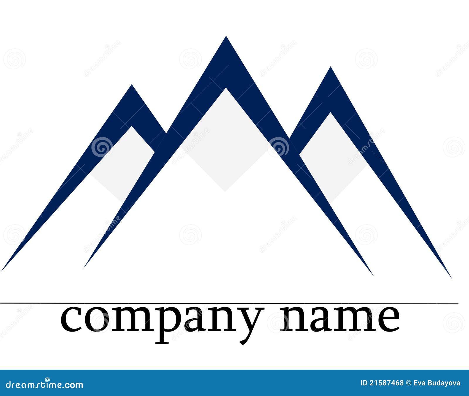 Ice mountain logo stock illustration. Image of icon, logo ...