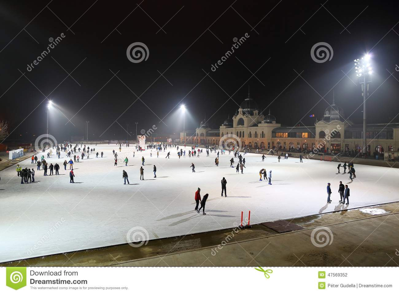 Ice Rink In Budapest Editorial Photography - Image: 47569352