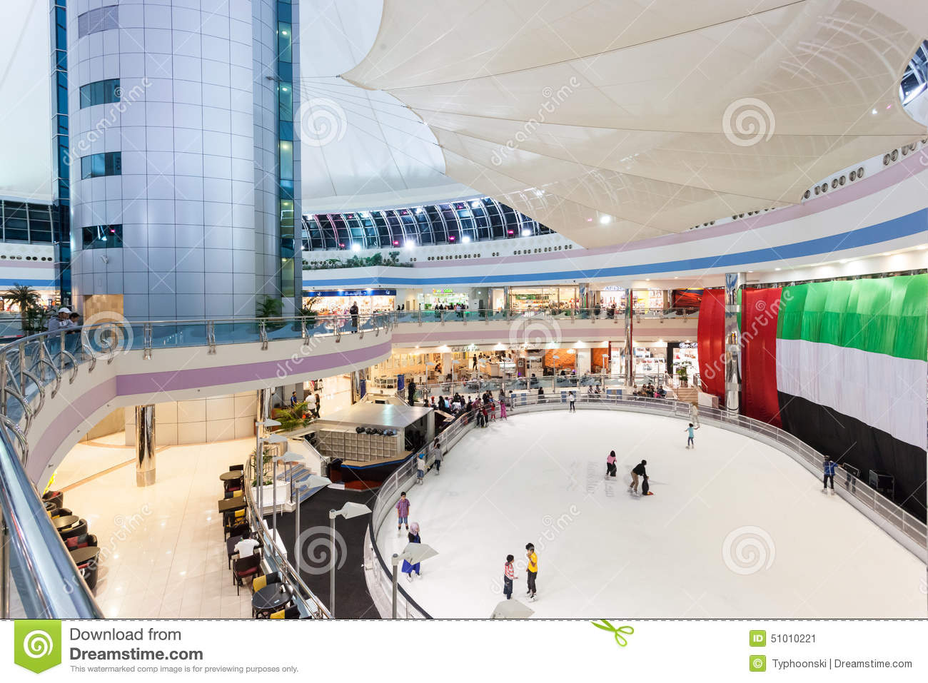 Ice Rink Inside Of The Marina Mall In Abu Dhabi Editorial Photo Image 51010221