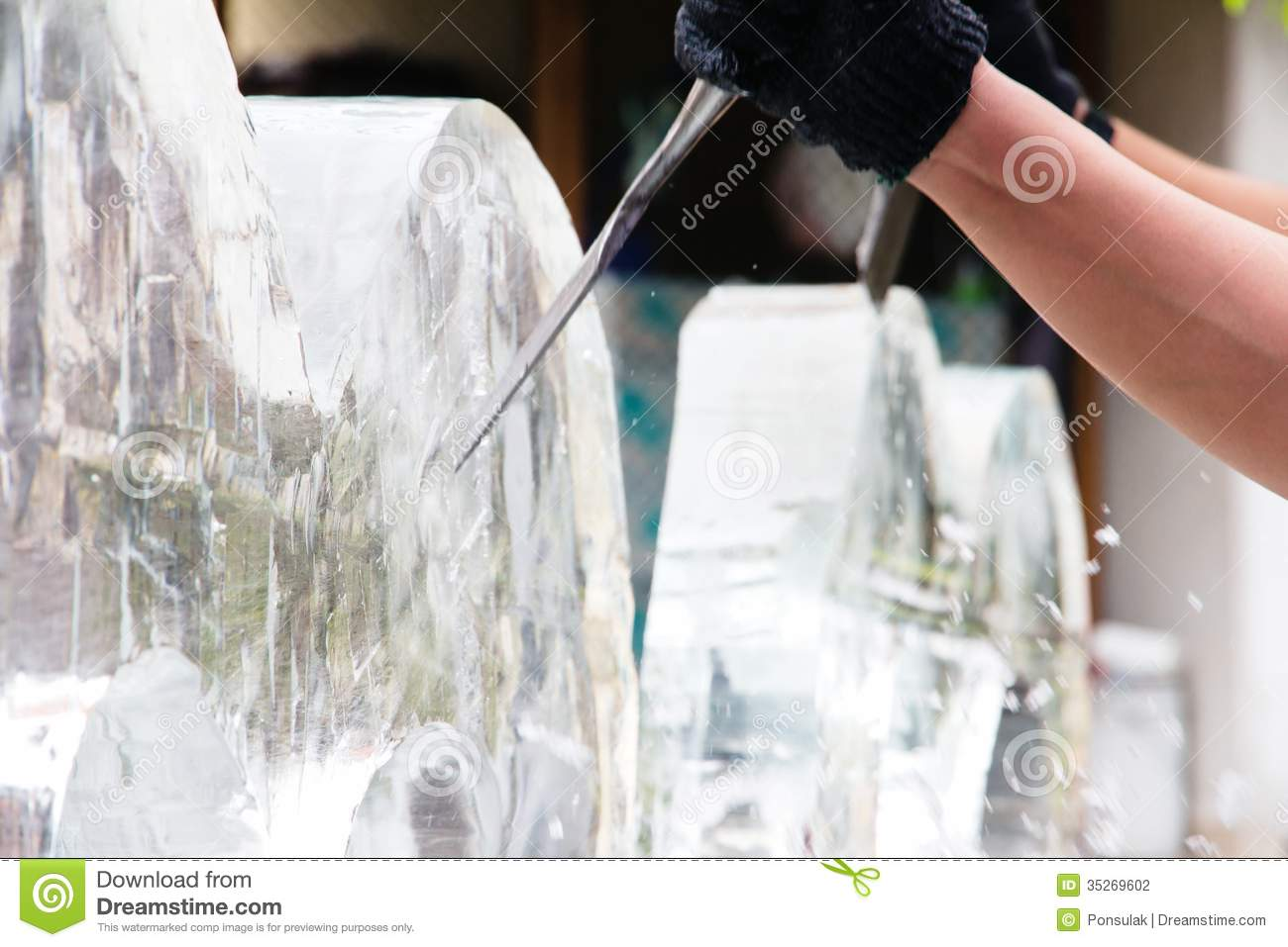 how to start ice sculpting