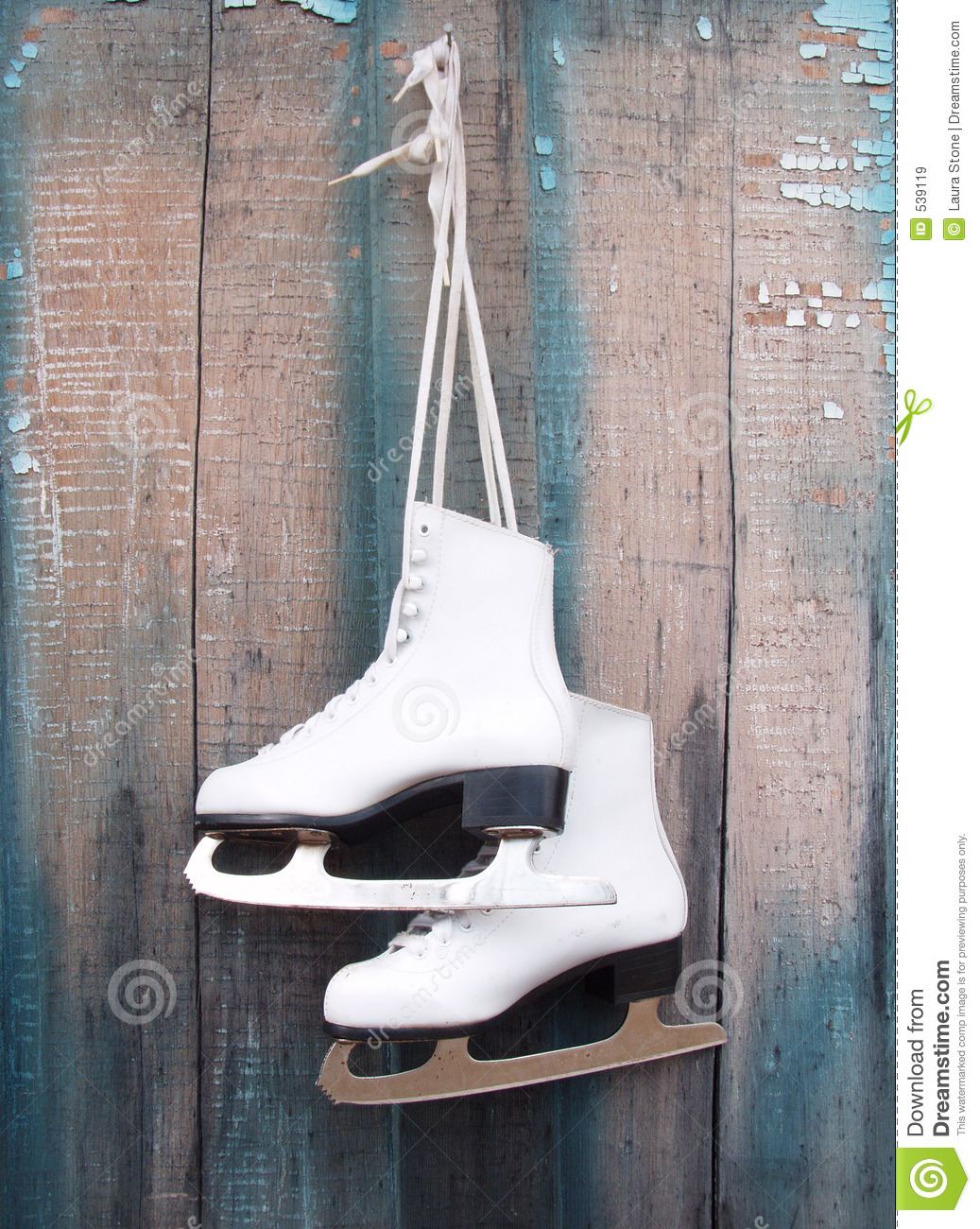 Ice Skates stock image. Image of blade, rustic, holiday ...