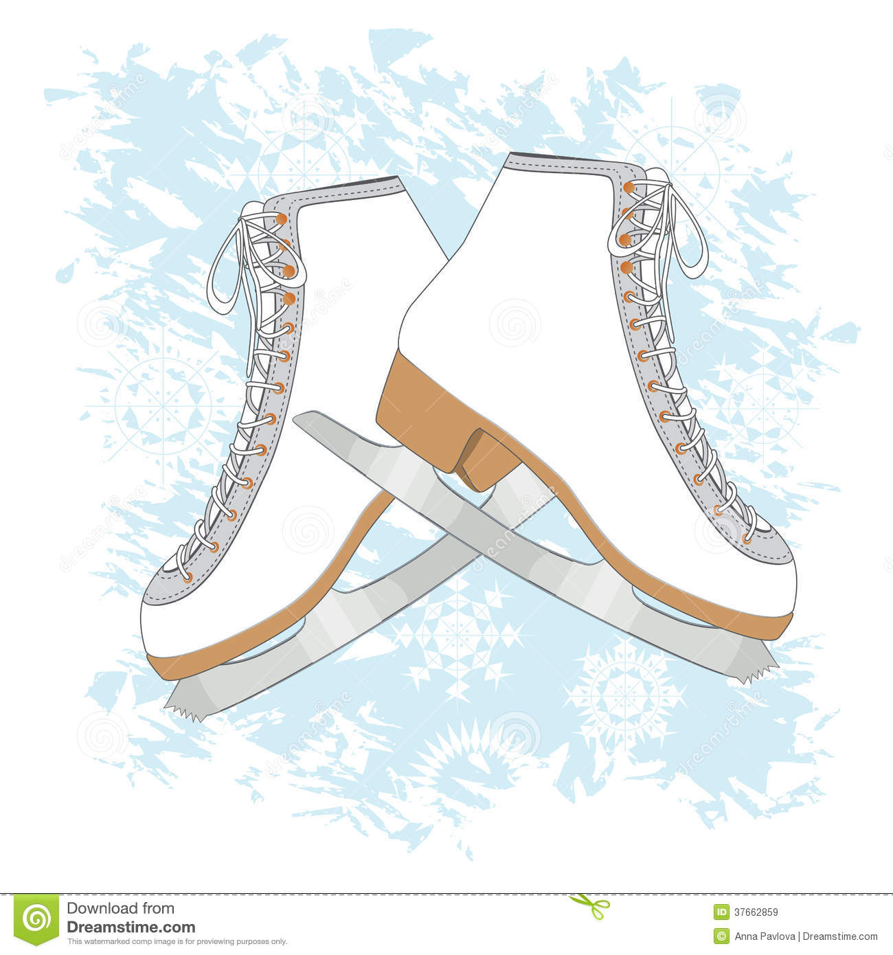 Ice Skates Background Royalty Free Stock Images Image