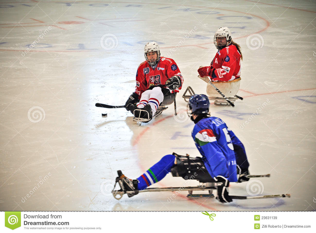 Ice Sledge Hockey Editorial Stock Image - Image: 23631139