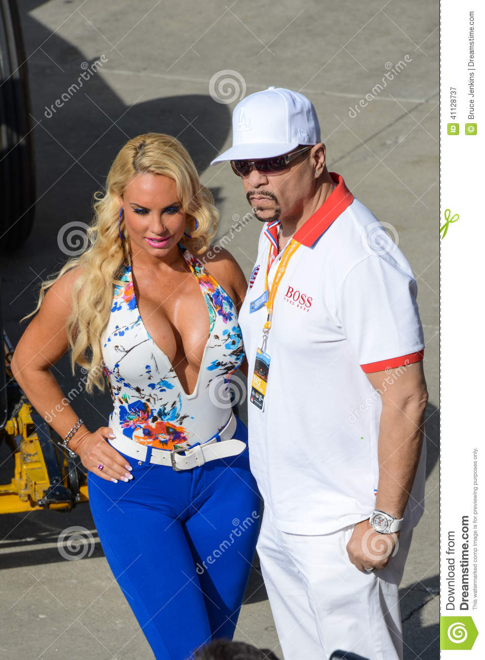 Ice T And Coco Indianapolis 500 2014 Editorial Photography
