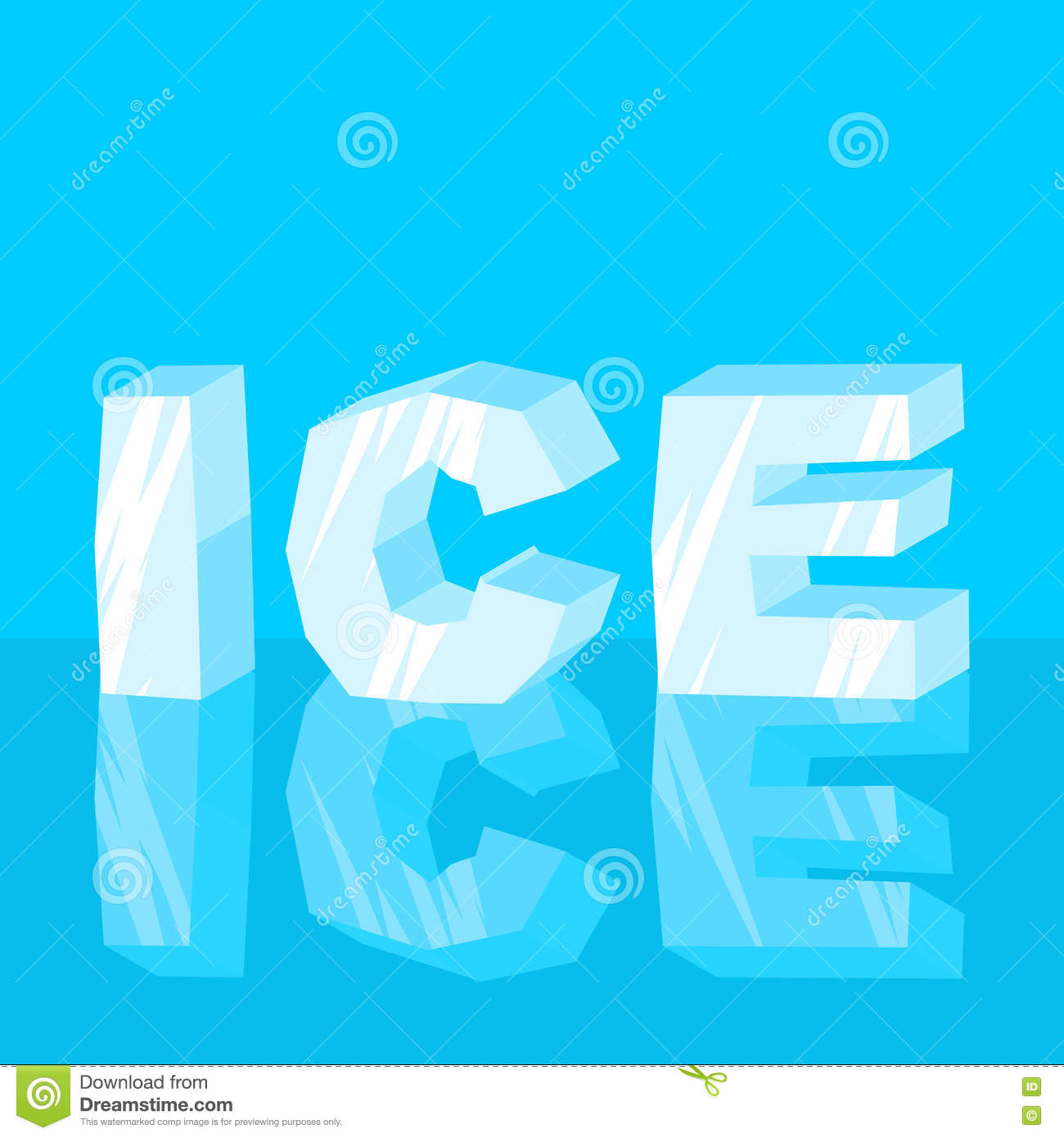 cool lettering letters typography frozen letters stock image