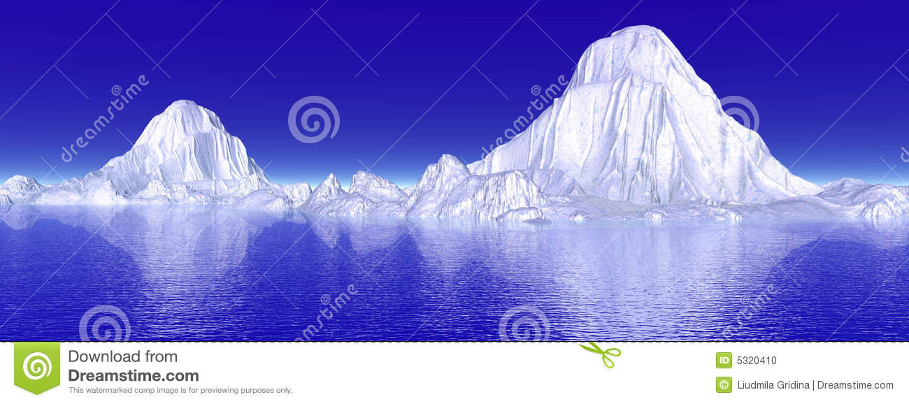 Download Iceberg illustrazione di stock. Illustrazione di oceano - 5320410