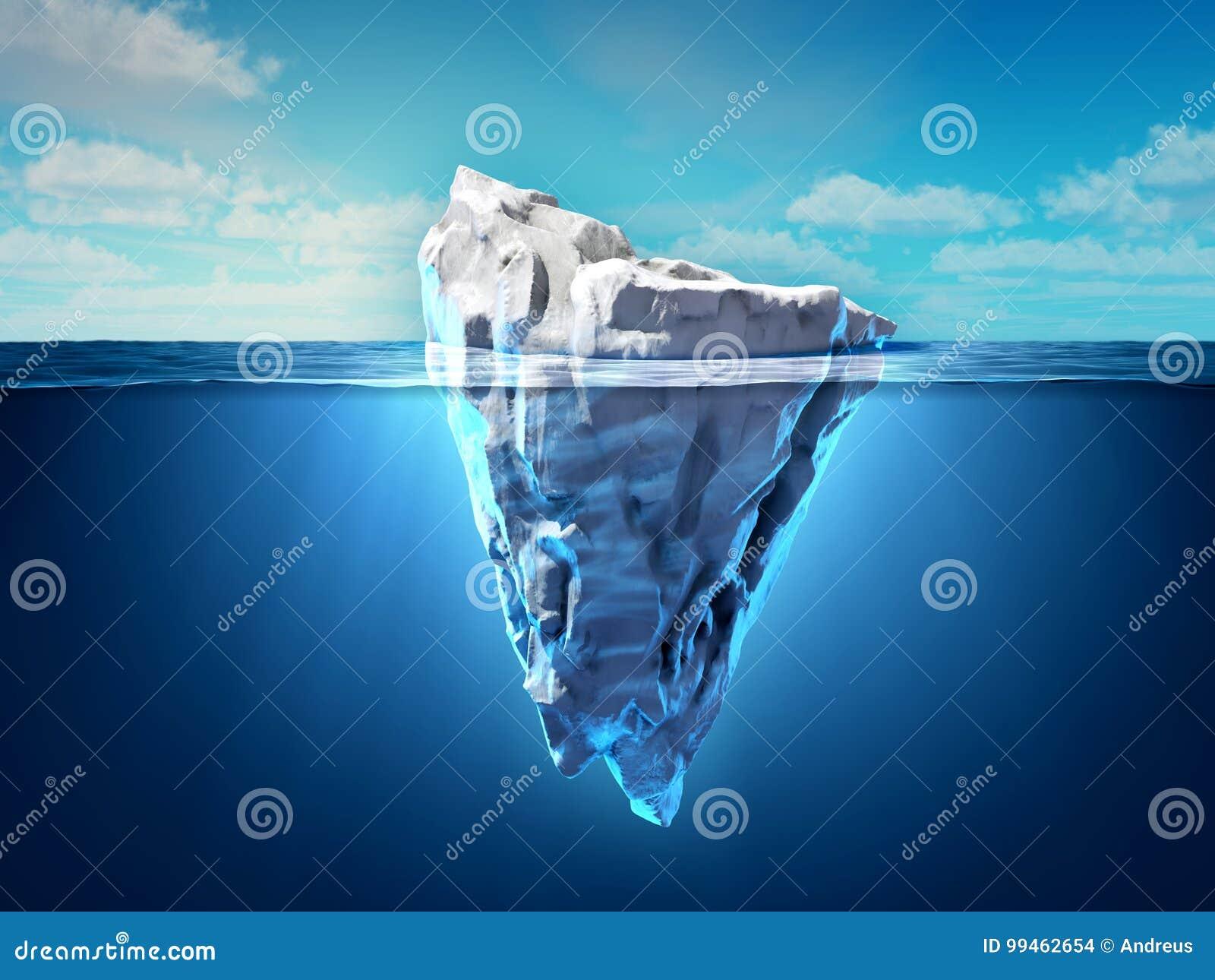 Iceberg floating in the ocean